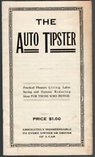 Original 1914 The Auto Tipster by Naples N. Sprinkle Neely Auto Lock