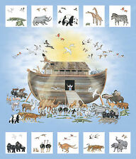 Noah's Ark The Northcott Fabric Digital Quilt  Panel 1 yard