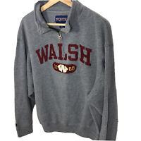 Vintage Jansport Walsh University Est. 1960 Sweatshirt Gray Size Large