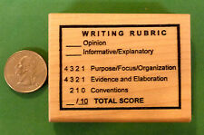 Writing Rubric, Teacher's Wood Mounted Rubber Stamp