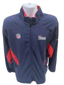 New England Patriots NFL Reebok Full Zip Fleece Jacket Mens Size Large NWOT