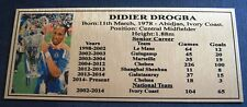 Soccer Didier Drogba  Silver Plaque new