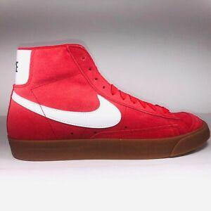 Nike Blazer Mid '77 Suede University Red Gum Bottom Shoes Men Size 8 CI1172-600