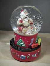 BEAUTIFUL HALLMARK 2001 COCA-COLA SANTA WITH MOVING TRAIN MUSICAL SNOWGLOBE
