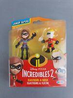 Disney Pixar - Incredibles 2 - Elastigirl & Dash - New & Sealed - Free P&P - Toy