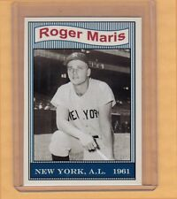 Roger Maris 1961 Yankees 50th Anniversary set card #1 only 100 exist