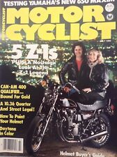 Motor Cyclist Magazin Can-Am 400 Qualifier July 1980 092217nonrh