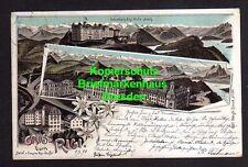 114787 AK Rigi Kulm Schwyz 1896 Litho Hotel Pension Rigi Staffel