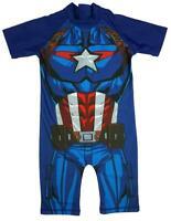 Boys Marvel Avengers Captain America Sunsafe Surf Swimsuit 1.5 to 5 Years