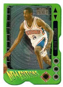 1996-97 Skybox Premium New Editions die cut Allen Iverson RC HOF