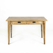 NEW - Danish Style Oak Natural Lacquered Timber 2 Drawer Desk/Console Hall Table