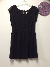Ladies sexy little black dress size XXL FIRE LOS ANGELES zip lace overlay 94