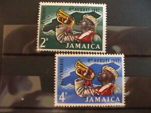 JAMAICA - 1962 Independence Part Set of 2vs MH Cat 3.75 (1T20)