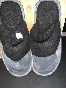 Super comfortable men's slippers with sturdy rubber soles Size S (7-8)