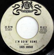 LOUIS JORDAN 45 I'm Goin' Home / I See...WARWICK label promo Northern SOUL e3812