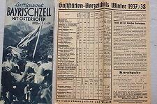 7963 Voyage lutter prospectus Bayrischzell avec Osterhofen 1937 avec plan de la ville hôtelier
