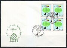 Lithuania 1994 FDC cover Song festival in Vilnius Music