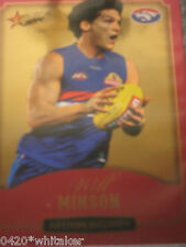 2014 Select AFL Champions WESTERN BULLDOGS Gold Card #CG216 WILL MINSON