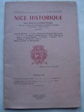 NICE HISTORIQUE N° 3 OCTOBRE DECEMBRE 1959 ALPES MARITIMES COTE D'AZUR PROVENCE