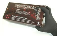 100 x BLACK PANTHERA TATTOO GLOVE - LARGE - POWDER FREE. Tattooists No 1