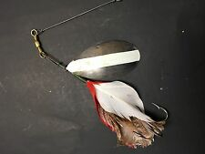 vintage Buel Musky spoon spinner lure bait early fishing tackle Antique sport