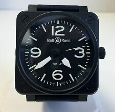 Bell & Ross BR01-92 Aviation Type White Numbers Stainless Automatic Watch w/ Box