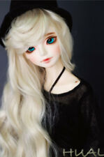 "1/3 8-9-10"" BJD Doll Pullip Wig Blonde Blond Curly Wavy Hair Wave Long Princess"