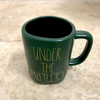 Rae Dunn Christmas UNDER THE MISTLETOE Green Mug Holiday 2020 LL By Magenta