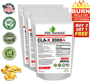 CLA Belly Fat Burner Pills - Stomach Weight Loss Supplement for Men & Women