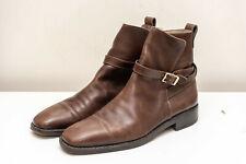 SALVATORE FERRAGAMO mens brown Leather boots size 10 D, UK 10