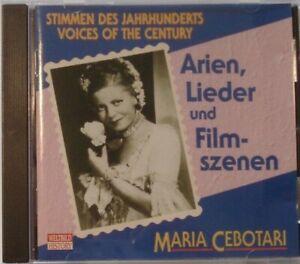 CD - Maria Cebotari - Arien, Lieder und Filmszenen