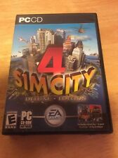 Sim City 4 Deluxe Edition PC CD ROM Complete 2 Disc Set Video Game Tested