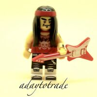 LEGO Ninjago Collectable Mini Figure Gong Guitar Rocker 71019-17 COLTLNM17 R610