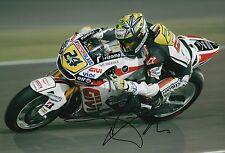 Toni Elias mano firmado LCR Honda 12x8 Foto MotoGP.