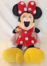 "Disney Minnie Mouse 18"" stuffed plush w/Tags Authentic Original Disney Parks"
