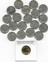 Rare Antique US Liberty Indian Buffalo Nickel Collection ½ Roll Coin Lot Gold S3