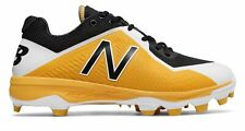 New Balance Low-Cut 4040v4 TPU Baseball Cleat Mens Shoes Yellow with Black Size