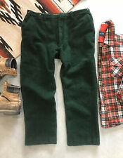 Vintage Rugged Wool Hunting Outdoor Pants Forest Green Mens 38 X 29