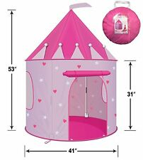 Play Tent Childs Pink Princess Castle Kid Play House Girl Fairy House New Stars