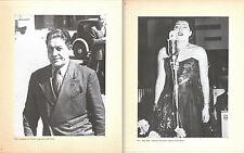1950 GIUSEPPE DI VITTORIO CGIL - 1951 NILLA PIZZI, SAN REMO - 2 FOTO RISTAMPA