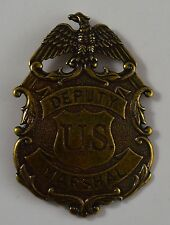 Gold Deputy US Marshall Badge - Ranger/Police/Cowboy Wild West Western US LAW