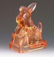 Boyd Glass JB Scottie Honey Bronze Color Scotty Scottish Terrier Figurine New