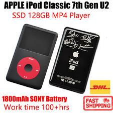 APPLE iPod U2 Classic 7th Gen MP4 PLAYER 128GB SSD 1800mAh 100hrs New Battery