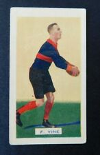 1933 Hoadley's Victorian Footballers Trade  Card 10  F. Vine Melbourne Nice