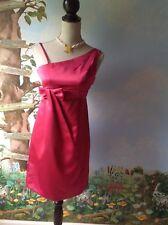 David's Bridal Pink Satin Sleeveless Girls Dress Junior Size 14