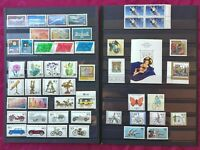 GERMAN FEDERAL REP. 1972-1991 44 stamps+1minisheet + 1block of four MH and MNH
