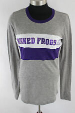 Victoria's Secret Pink TCU Horned Frogs Bling Graphic T Shirt XS a4