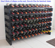 72 Bottles Wine Rack Stackable Storage 6 Tier Display Shelves Stand WN85-BLACK