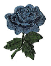 SEW ON Rose - Flower - Love - Blue Rose - Embroidered SEW ON Applique Patch