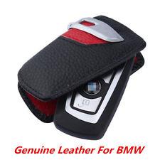 Genuine Leather Car Key Case Bag Sport Line FOB Holder For BMW 1 3 5 7 Series X3